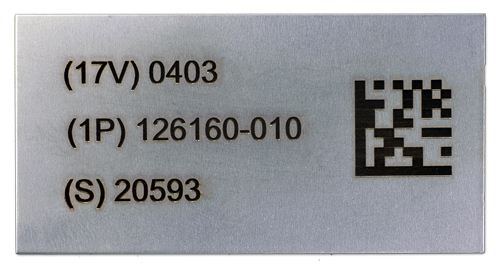Stainless Steel UID Label