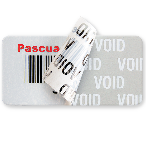 Void Indicating Asset Label