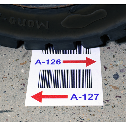 Warehouse Floor Label with Barcode