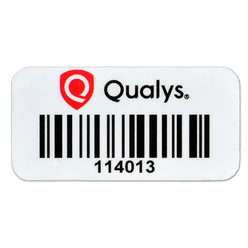 Custom barcode asset tag with logo
