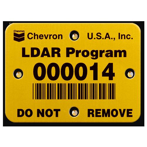 Barcode LDAR Valve Tag