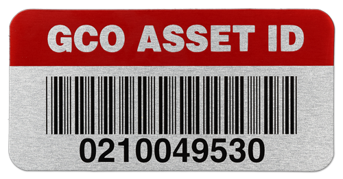 Aluminum Asset Label