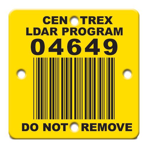 Barcode LDAR Tag