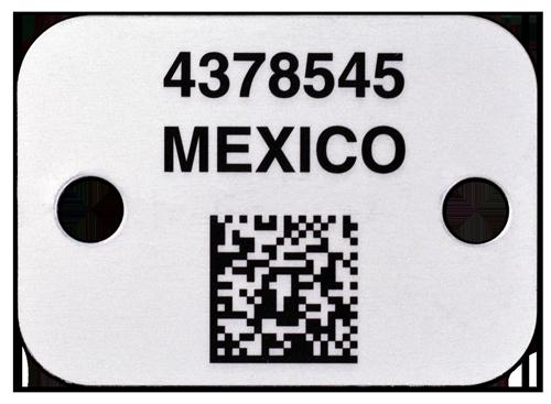 Aluminum Data Matrix Label