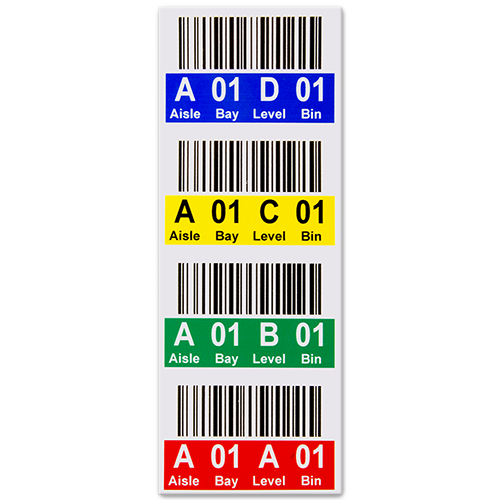 Multi-level rack label