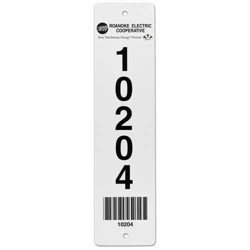 Barcode Pole Tag