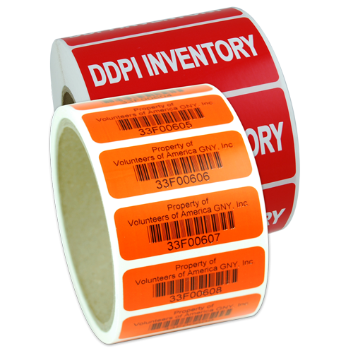 Polyester Barcode Labels on Roll
