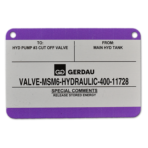 Custom Metal Nameplate with Color