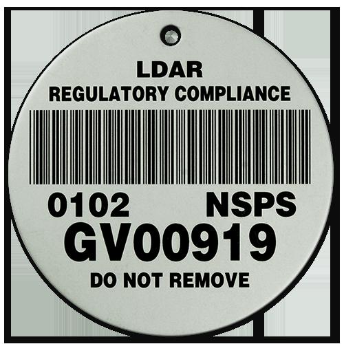 Barcode LDAR Compliance Tag