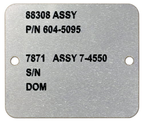 Stainless Etched UID Tag