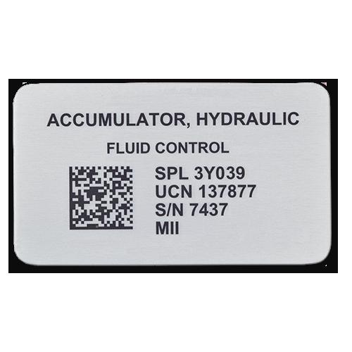 Aluminum UID Label