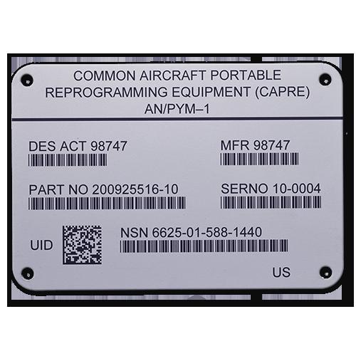 Steel UID Label